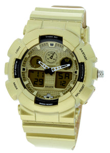 G-shock Style X-large Combination Watch--military Yellow Gold Color - BDM4008