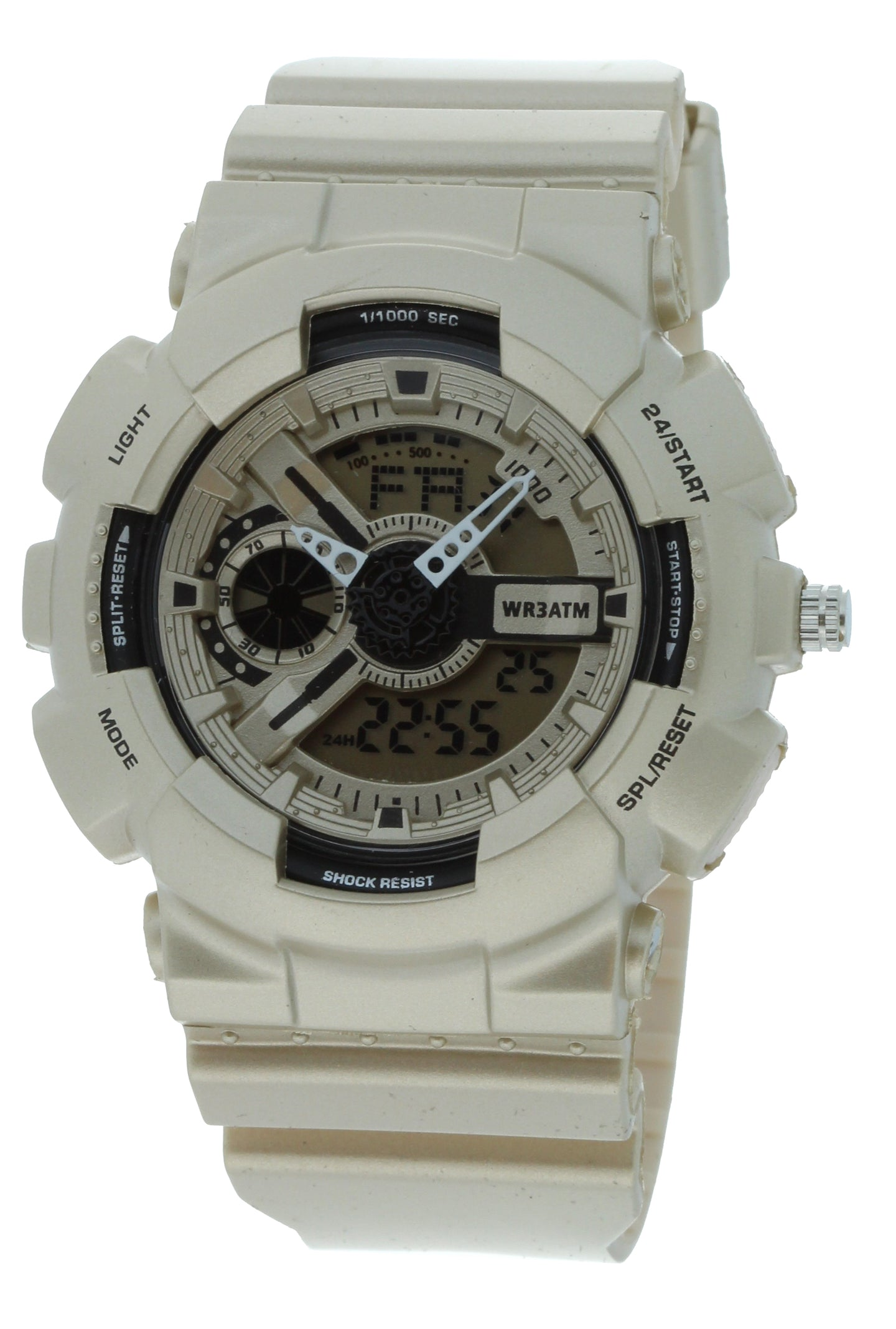 G-Shock Style X-Large Combination Watch--Military Matt Silver Color - BDM4010