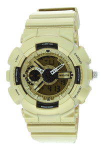 G-Shock Style X-Large Combination Watch--Military Yellow Gold Color BDM4010