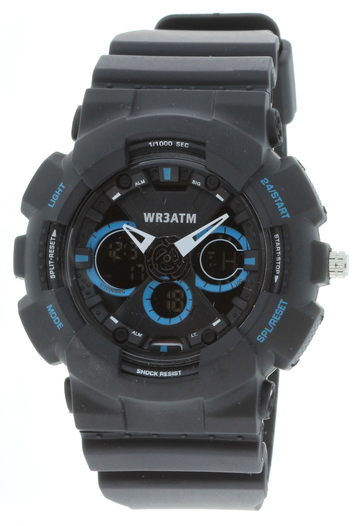 G-Shock Style X-Large Combination Watch--Military Black/ Blue - BDM4011BLKBLU