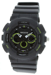 G-Shock Style X-Large Combination Watch--Military Black/ Green - BDM4011BLKGR