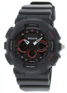 G-Shock Style X-Large Combination Watch--Military Black/ Red - BDM4011