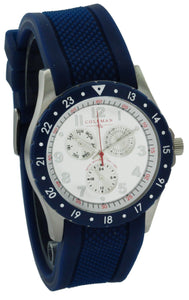 Men's Quartz Multi function Rubber Strap Watch COL7109