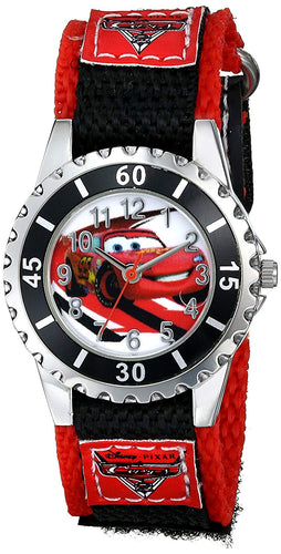 Disney Kids'  Pixar Cars Watch with Black and Red Band CRS409
