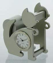 Load image into Gallery viewer, Cat shape Miniature clock Tape Dispenser Holder TAPECUTERYELCAT