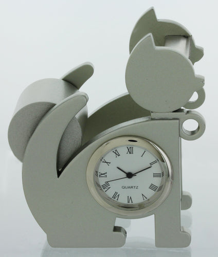 Cat shape Miniature clock Tape Dispenser Holder TAPECUTERYELCAT