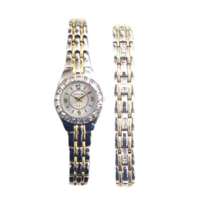 Elgin Women's Two Tone Dress Watch and Bracelet Set - EG8073