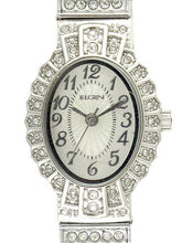 Load image into Gallery viewer, Elgin Women's Crystal Accent Silver-Tone Dressy Expansion Watch - EG9058