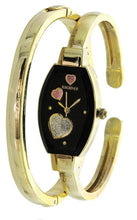 Load image into Gallery viewer, Elgin Women's Bangle Watch and Bracelet Set Raining Heart Dial ELS32