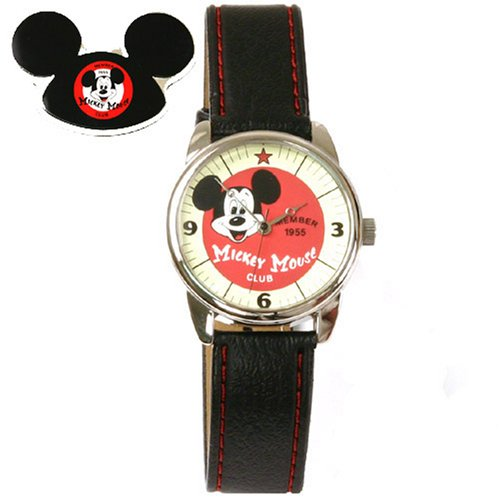 Disney Mickey Mouse Club Collectible Watch, F945511 , Special Packaging, Leather Strap