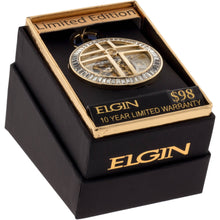 Load image into Gallery viewer, Elgin Mens Full Skeleton Automatic Pocket Watch