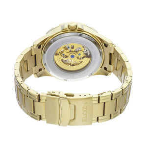 Elgin Men's Full Automatic Watch with Rose Arabic Dial, Goldtone - FG9040