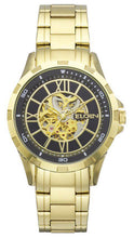 Load image into Gallery viewer, Elgin Men's Full Automatic Watch with Rose Arabic Dial, Goldtone - EG9040