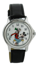 Load image into Gallery viewer, Disney Vintage style backward ticking watch Goofy And Micky Mouse Molded Hand Quartz watch GFY003