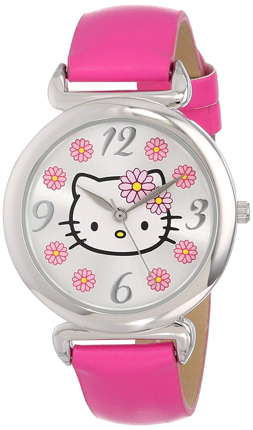 Sanrio Hello Kitty Women's Watch With Pink Leather Band - HKAQ5371