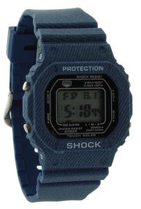 Men's  Shock Resistant L Blue Resin Sport Watch KF001LBLU