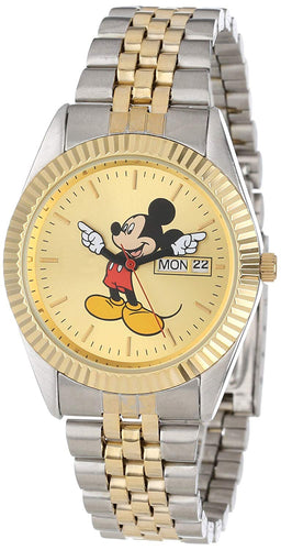 Disney Man's Mickey Mouse Watch Gold and Silver - MCK339