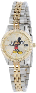 Disney Mickey Mouse Women's Classic 'Moving Hands' Two-Tone Bracelet Watch - MCK340