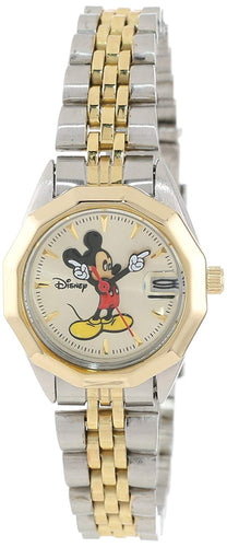 Disney Mickey Mouse Women's Classic 'Moving Hands' Two-Tone Bracelet Watch - MCK342