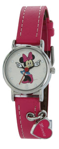 Disney MCK354 Minnie Mouse Girl's Pink Strap Heart Chart Analog Watch