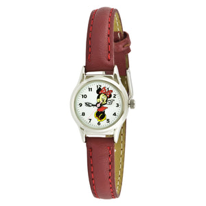 Disney Women's Minnie Mouse Brown Strap Watch - MCK371