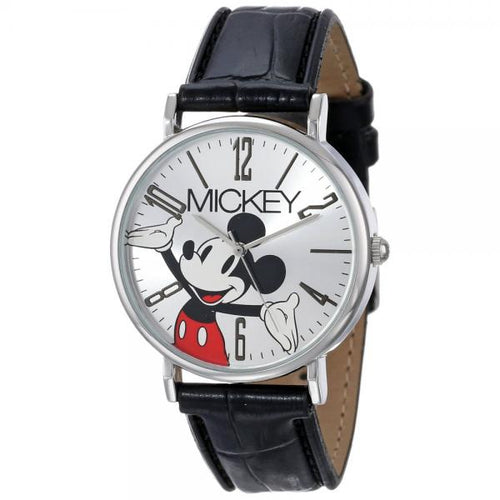 Disney Mickey Mouse Women's Modern Black Strap Watch - MCK493