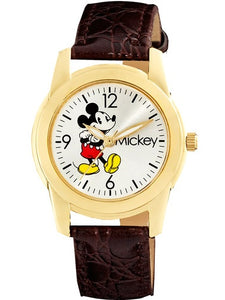 Women's Mickey Mouse Brown Strap Watch