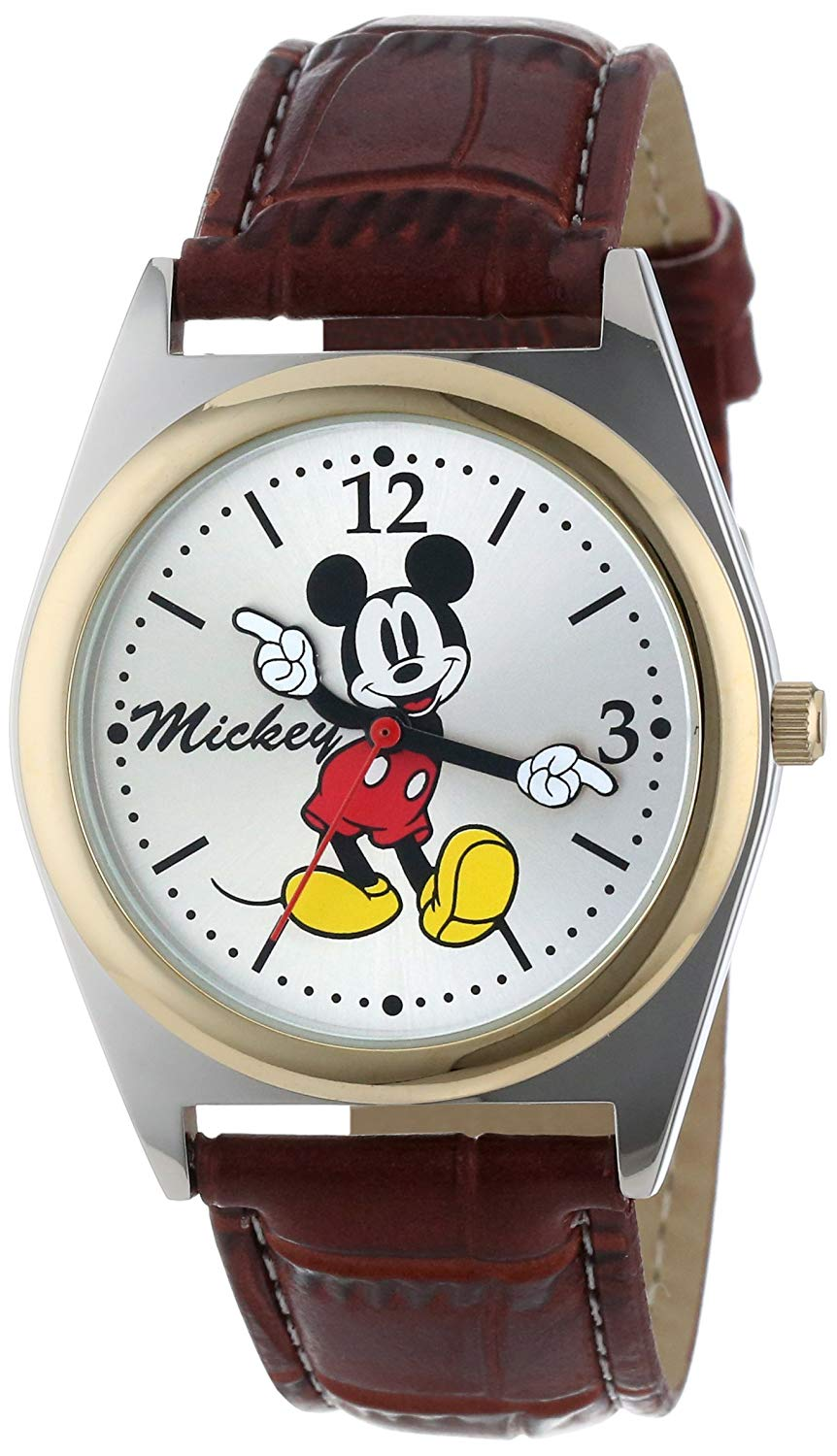 Disney Mickey Silver Polyurethane Quartz Men's Watch - MCK623