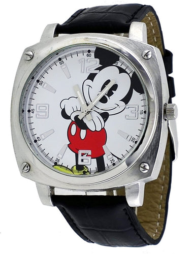 Disney Men's Mickey Mouse black Strap Analog Jumbo Watch Mck992