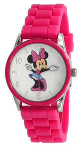 Disney MIN081 Minnie Mouse Movings Hands Pink Resin Watch