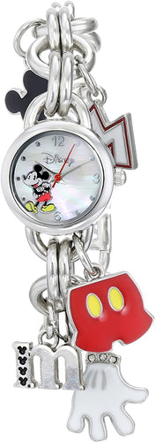 Disney Women's Mickey Mouse Charm Watch with Mother of Pearl Dial MK2066