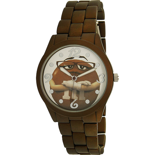 M&Ms Girl's Brown Stainless-Steel Quartz Fashion Watch - MMSAQ022AF
