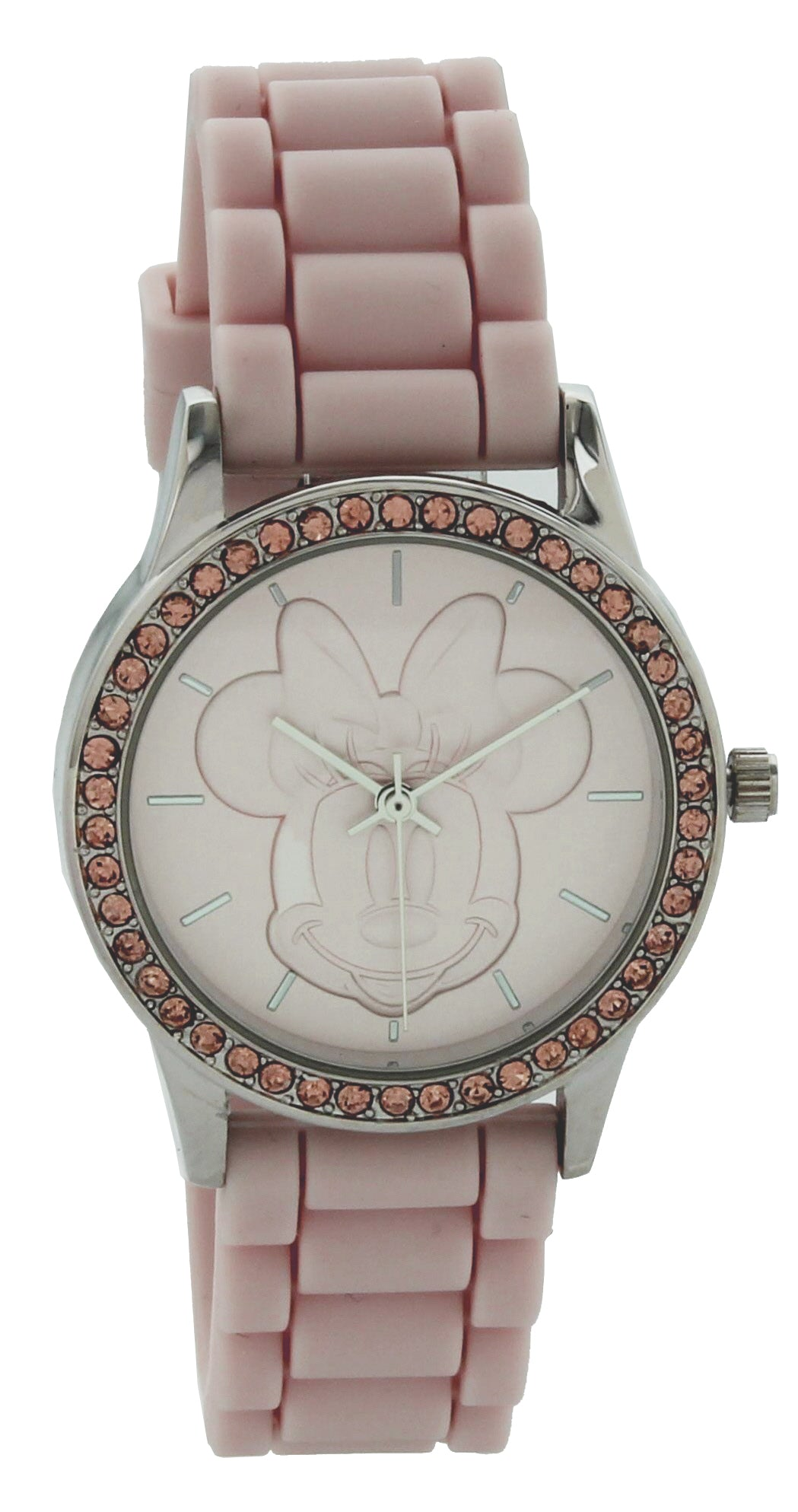 Disney Women's Minnie Mouse Watch w/ Pink Dial & Strap - MN1590BB
