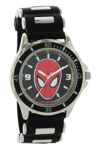 Disney Spiderman Men's Black Rubber Strap Analog Watch - SPD1415