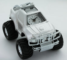 Load image into Gallery viewer, Miniature Classic suv Car Analogue Silver tone Novelty Alarm Clock Collectible AH6032