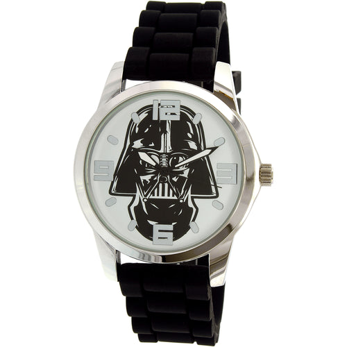 Disney Star Wars Boy's Black Silicone Quartz Fashion Watch - SWCAQ16011