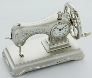 Sewing Machine Miniature Vintage Singer Style Collectible Mini Clock CK128