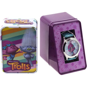Trolls Analog Watch With Blue Acrylic Strap and Charms TRALQ16078