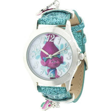 Load image into Gallery viewer, Trolls Analog Watch With Blue Acrylic Strap and Charms TRALQ16078