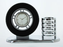 Load image into Gallery viewer, Pen Pencil Holder Analog Desk Mini Tire Clock Pen Holder TIRCLOCK
