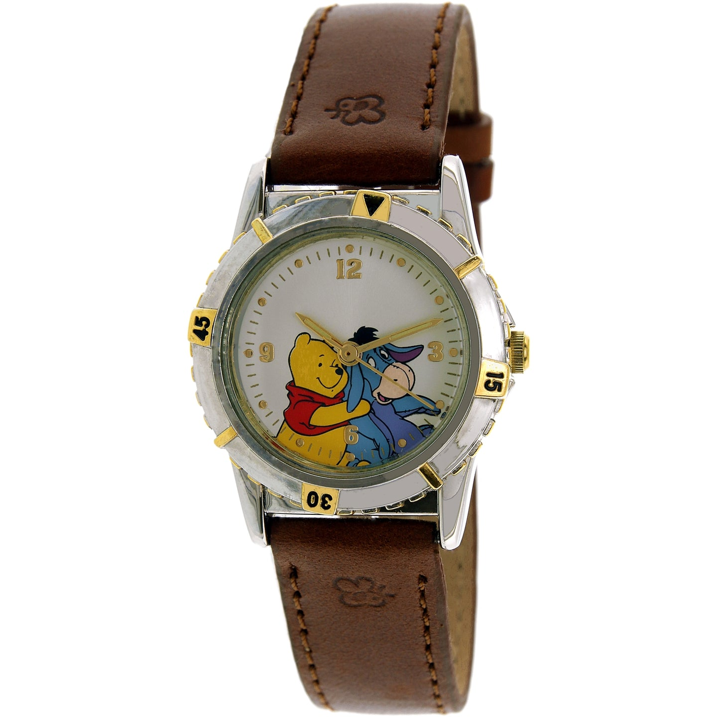 Disney Winnie The Pooh Girl's Brown Leather Quartz Fashion Watch - WTP057