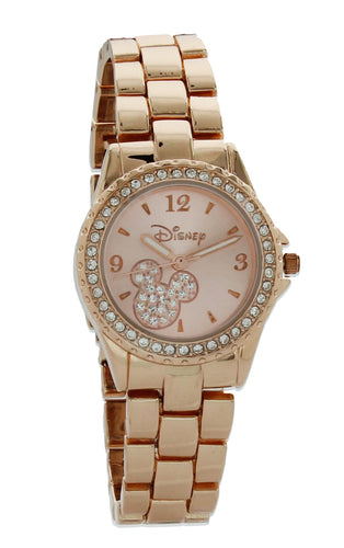 Disney Minnie Mouse Rose Gold Women Watch With Rhinestones - MK2209