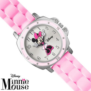 Disney Women's Minnie Mouse Pink silicon Strap Watch Mn1063