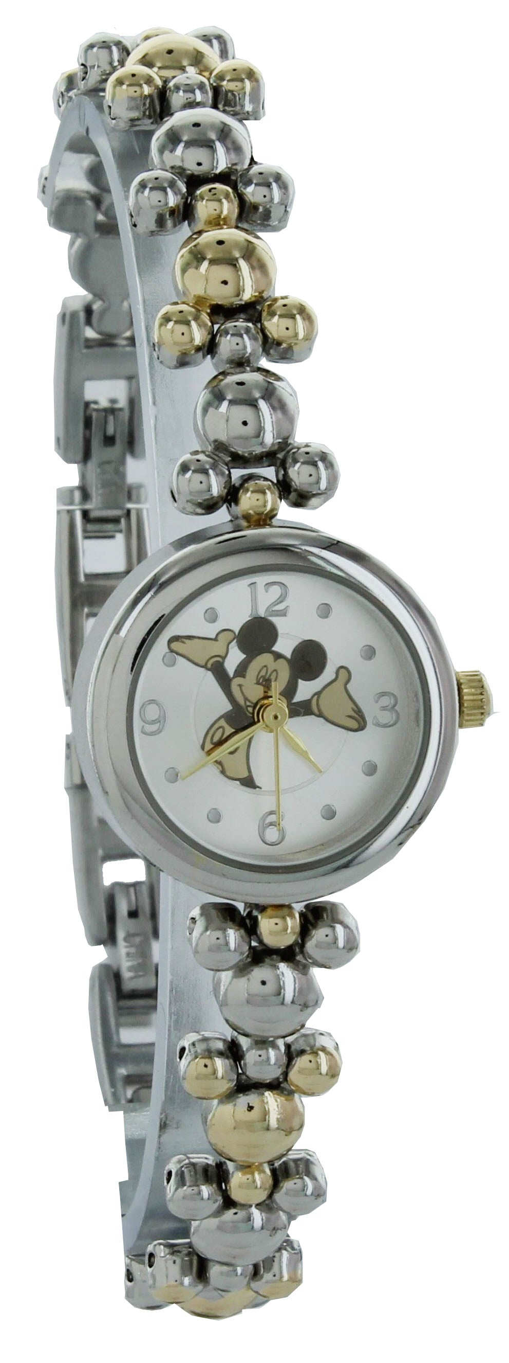 Disney Women's Happy Mickey Mouse elegant Two Tone Thin Bracelet Watch - MK8131