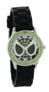 Marvel Glow-in-The-Dark Spider-Man Watch with Black Silicone Band - SPD3413