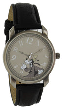Load image into Gallery viewer, Disney Vintage Style Crazy Numbers Goofy gun color Case Black Strap Watch - GY5003
