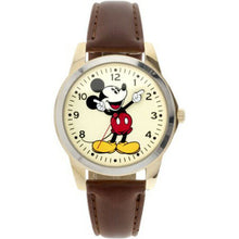 Load image into Gallery viewer, New Disney Classic Mickey Mouse Pointing Hands Brown Strap Watch