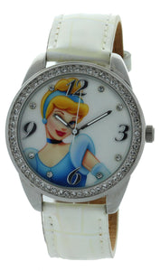 Disney Princess Girl's PRS547 White Leather Quartz Fashion Watch