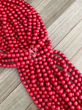 10mm Red Coral - FSJ Beading Supplies