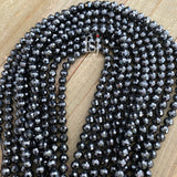 6mm Faceted Black CZ Beads - FSJ Beading Supplies
